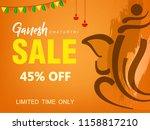 happy ganesh chaturthi design ... | Shutterstock .eps vector #1158817210