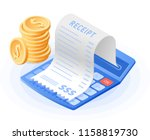 the mathematics calculator ... | Shutterstock .eps vector #1158819730