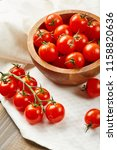 fresh red cherry tomatoes in... | Shutterstock . vector #1158820636