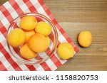 ripe organic apricots with... | Shutterstock . vector #1158820753