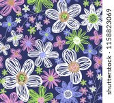 seamless vector pattern with... | Shutterstock .eps vector #1158823069