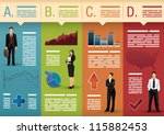 template used for infographics  ... | Shutterstock .eps vector #115882453