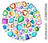 set of colorful diamonds of... | Shutterstock .eps vector #1158829066