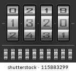 vector illustration of number... | Shutterstock .eps vector #115883299