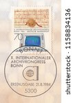germany circa 1984 a stamp... | Shutterstock . vector #1158834136