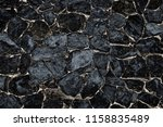 pattern and textured of black ... | Shutterstock . vector #1158835489