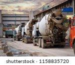 heavy mixer concrete trucks... | Shutterstock . vector #1158835720