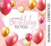 abstract happy birthday balloon ... | Shutterstock .eps vector #1158837610