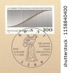 germany circa 1993 a stamp... | Shutterstock . vector #1158840400