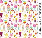 alice in wonderland seamless... | Shutterstock .eps vector #1158848830