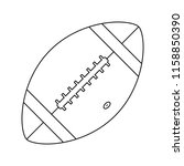 american football icon. thin...   Shutterstock .eps vector #1158850390