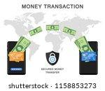 mobile phone money transaction... | Shutterstock . vector #1158853273