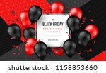 black friday sale poster with... | Shutterstock .eps vector #1158853660