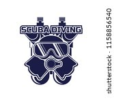 scuba diving logo for your... | Shutterstock .eps vector #1158856540
