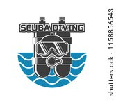scuba diving logo for your... | Shutterstock .eps vector #1158856543