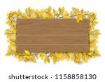 empty wooden sign with space... | Shutterstock .eps vector #1158858130