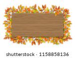 empty wooden sign with space... | Shutterstock .eps vector #1158858136