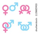 male and female symbols... | Shutterstock .eps vector #115885903