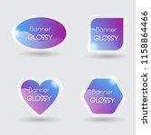 set of vector banner glossy... | Shutterstock .eps vector #1158864466