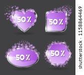 set of vector banner glossy... | Shutterstock .eps vector #1158864469
