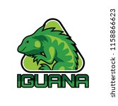 iguana logo for your business ... | Shutterstock .eps vector #1158866623