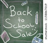 back to school sale background | Shutterstock .eps vector #1158867019