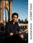 indian pakistanian guy model in ... | Shutterstock . vector #1158871063