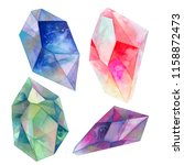watercolor isolate colorful... | Shutterstock . vector #1158872473
