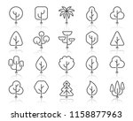 abstract tree thin line icons... | Shutterstock .eps vector #1158877963