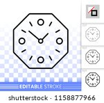 wall clock thin line icon....   Shutterstock .eps vector #1158877966