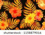 orange yellow exotic pattern.... | Shutterstock .eps vector #1158879016