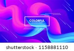 vector 3d colorful fluid shapes.... | Shutterstock .eps vector #1158881110