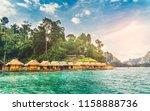 landscape of ratchaprapa dam...   Shutterstock . vector #1158888736