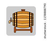 wooden barrel for beer  water... | Shutterstock .eps vector #1158888790