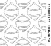 gingerbread. black and white... | Shutterstock .eps vector #1158888973