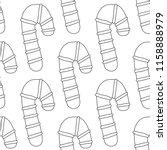gingerbread. black and white... | Shutterstock .eps vector #1158888979