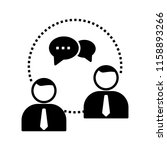 project management glyph icon   Shutterstock .eps vector #1158893266