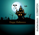 vector halloween picture with... | Shutterstock .eps vector #115889524