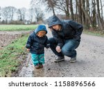 toddler girl with young man... | Shutterstock . vector #1158896566