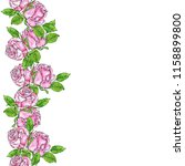 seamless border with beautiful... | Shutterstock . vector #1158899800
