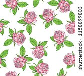 seamless pattern with beautiful ... | Shutterstock . vector #1158899803