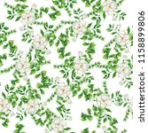 seamless pattern with white... | Shutterstock . vector #1158899806