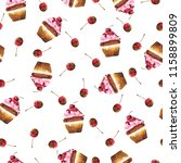 seamless pattern with chocolate ... | Shutterstock . vector #1158899809