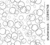Bubbles Black And White...