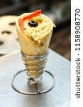 delicious cheese vegetarian... | Shutterstock . vector #1158908770