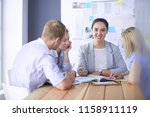 young people studying with... | Shutterstock . vector #1158911119