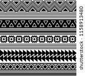 ethnic boho tribal indian... | Shutterstock .eps vector #1158913480