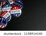 red  white  and blue vote... | Shutterstock . vector #1158914140