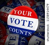 vote buttons with your vote... | Shutterstock . vector #1158914479