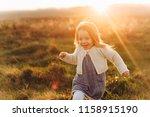 portrait of a cute beatiful and ... | Shutterstock . vector #1158915190
